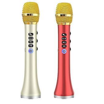 2 تعيين l-698d 20w المحمولة لاسلكية بلوتوث كاريوكي ميكروفون المتكلم مع قوة كبيرة للغناء / الاجتماع، والذهب والأحمر