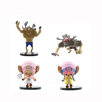 4pcs Figure Set One Piece Chopper Toy Doll Anime Collection