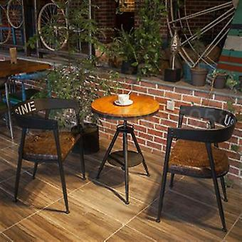 Chaise à manger en fer, Industrial Wind Milk Tea Dessert Baking Shop Cafe Solid Wood