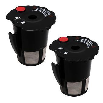 2PCS cafetera malla negro cafetera piezas de repuesto para Keurig