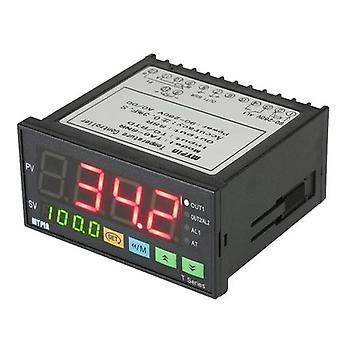 MYPIN Monitoiminen älykäs lämpötilansäädin Dual 4 Digitaalinen LED-näyttö °C/°F Termostaatti PID LämmitysJäähdytyksen ohjaus TC/RTD Tulo SSR Lähtö 1 Relehälytys 96mmX48mmX80mm 90-260V