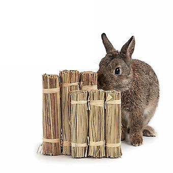 3  Pack Rabbt Pet Guinea Pig Chew Toys Natural Reed Molar Snacks Grass Fence