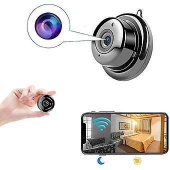 Spy Camera, Surveillance Secret Camera Mini WiFi Camera with Night Vision and Motion Detection Small 1080P HD Nanny Camera for Home and Office Shop, No Card (black)