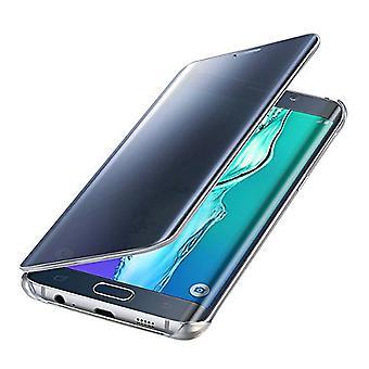 Samsung Original Clear View Cover Case for Galaxy S6 Edge Plus SM-G928F - Blue/Black