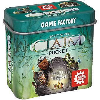 FengChun 646260 Claim Pocket, Mini-Stichspiel in handlicher Metalldose, Duell um den Thron, ab 10