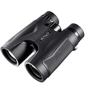 Binocolo 10x42, Binocolo per adulti per il birdwatching, Binocolo di viaggio (nero)