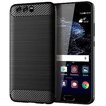 Tpu carbon fibre case for huawei p10 black mfkj-361