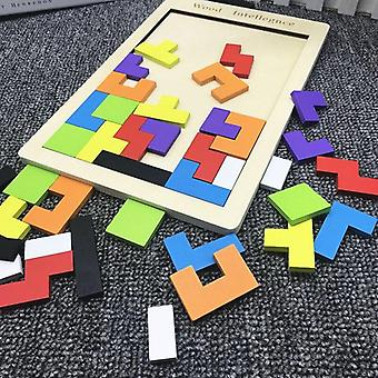 Montessori Tetris Puinen Lelu Luova Rakennuspalikat Lentokone Palapeli Geometriset hahmot Montessori