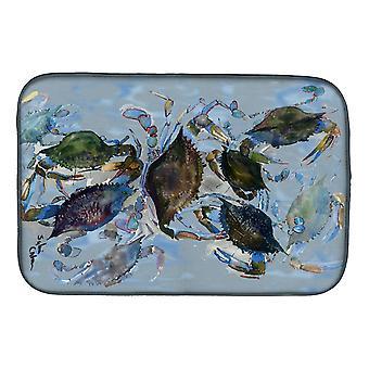 Caroline's Treasures Crab Plato Drying Mat, 14 X 21, Multicolor