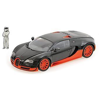 Bugatti Veyron super sport med Stig figur (2011) helstøpt modell bil fra Top Gear