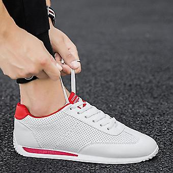 Leather Sneakers, Sport Vulcanized Shoes