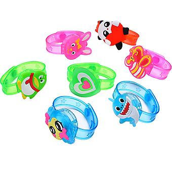 Light Up Spin Bracelet For Kids, Glow In The Dark Party Supplies 10 Pack