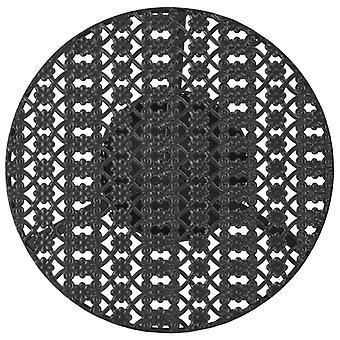 vidaXL Bistro Pöytä Musta 40x70cm Metalli
