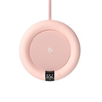 Vaaleanpunainen älykäs vakiolämpötilalämmitys lasinalus, eristetty vesikuppipohja, työpöydän lämpimämpi lämpötyyny az696
