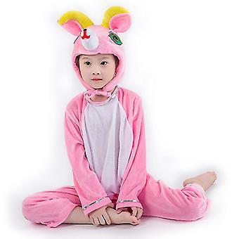 Xs (100cm) ροζ πρόβατα μακρύ cosplay κοστούμι κοστούμι κοστούμι κοστούμι ρούχα διακοπές ρούχα cai456