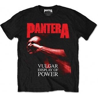 Pantera Red Vulgar Mens Svart T-shirt: Stor
