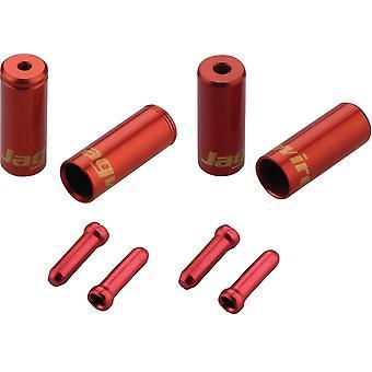 Jagwire Brake/Gear Universal Pro End Cap Packar röd 4/5mm