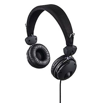Hama - Casque stéréo on-ear Fun4Phone, noir - noir - textile (1 ACCESSORES)