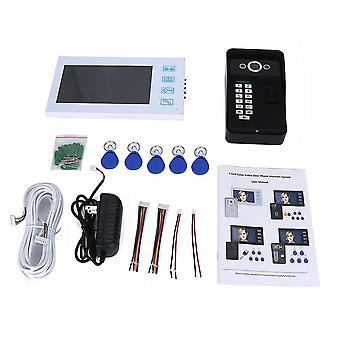 Fingerprint Recognition Rfid Password Video Door Phone Intercom Doorbell