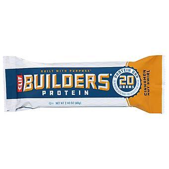 Clif Builder Bar القرفة نوت الدوامة، حالة 12 X 2.4 أوقية