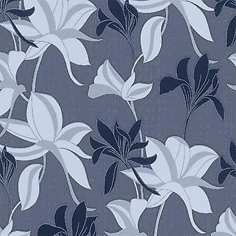Erismann Flower Blue Wallpaper