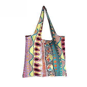 складной сумочке продуктовый мешок Цветок Шаблон многоразовые продуктовые Tote сумочку