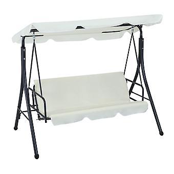 Garten faltbare 2-in-1 Schaukel Stuhl 3 Sitzer Hängematte - Beige