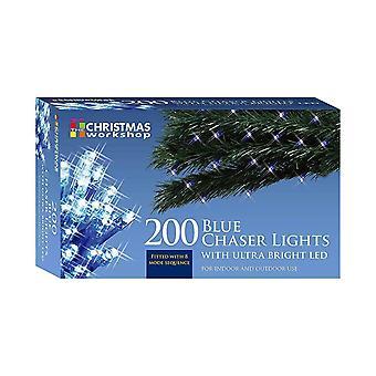 Julelysene 200 Ultra Bright LED String Chaser, Blue
