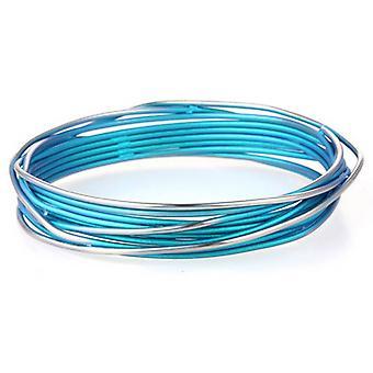 Ti2 Titanium Chaos Sortiment Armreif - Kingfisher blau