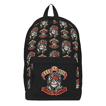 Guns N Roses Rugzak Tas Eetlust Voor Vernietiging Band Logo Officieel Zwart