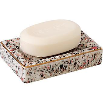 Home Ceramics Phnom Penh Soap Box Square Round Shape Soap Rack Storage Nordic Style