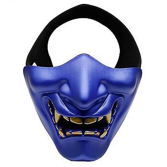 Devil Horror Grimace Adult Half Face Mask(Blue)