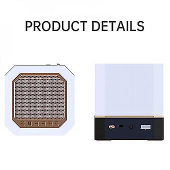 Bluetooth Speaker Wireless Remote Led Night Light Smart App Control Digital Azan Clock With Quran