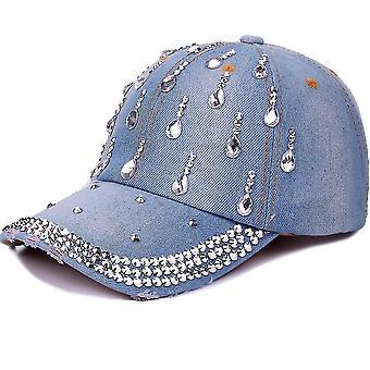 Chapeaux snapback de broderie de diamant de chapeau de diamant de chapeau de diamant de strass de base-ball