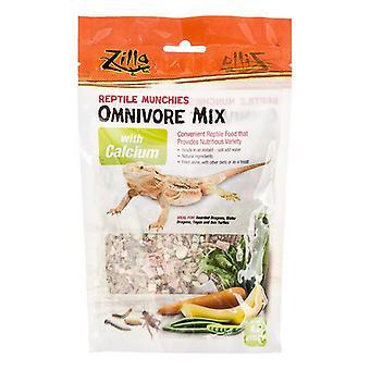 Zilla Reptile Munchies - Omnivore Mix with Calcium - 4 oz
