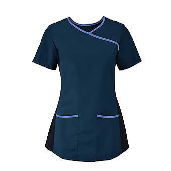 Alexandra womens/hölgyeim orvosi/egészségügyi stretch Scrub Top