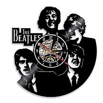 3 # الفينيل سجل ساعة الجدار ، البيتلز سجل ساعة الجدار ، الرجعية المنزل الديكور الجدار ساعة az15432