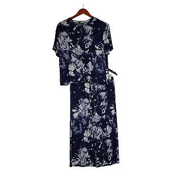 Honeydew Women's Sm Palazzo Pajama Set 2-piece Blue