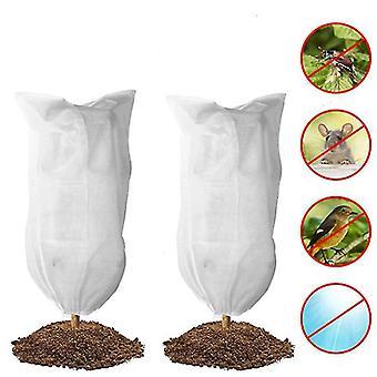 Cubierta anticongelante de la planta Estuche de protección contra la congelación del árbol reutilizable con cordón (80 * 120 cm)