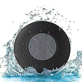 Drahtloser tragbarer Bluetooth-Lautsprecher, wasserdicht und duschenfreundlich. (Schwarz)