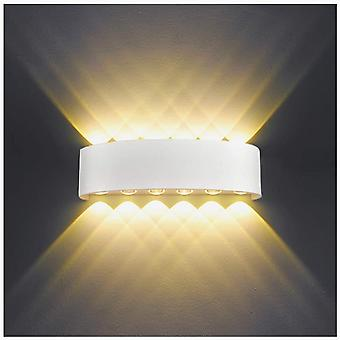 Indoor Wall Light Led 12w White Modern Wall Lamp, Ip65 Waterproof Aluminum Outdoor Wall Lights, (white)