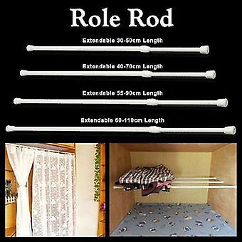 Rideau Rail Pole Rod Tension Télescopique Haute Acier au Carbone Extensible Pour Salle de Bain