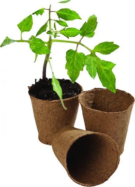 24pcs 6cm Round Fibre Pots For Home Growing Gardening