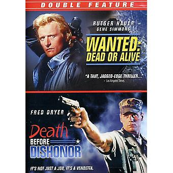 Wanted Dead or Alive/Death Before Dishonor [DVD] USA import