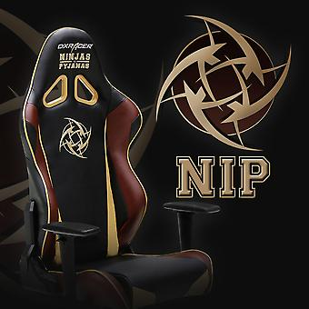 DX Racer DXRacer OH/RE126/NCC/NIP High-Back Racing Seat Gaming Chair PU(Black/Brown/Yellow)