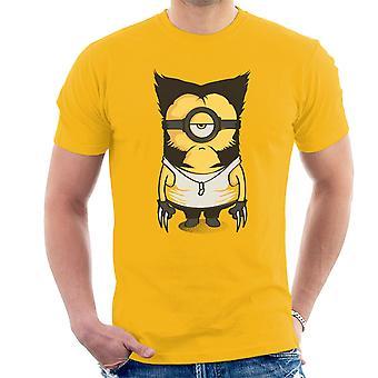 Wolvenion Wolverine Minion X Männer Schergen Herren T-Shirt