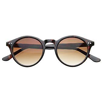 Vintage inspireret lille runde cirkel nøglehul Retro P3 solbriller med nitter
