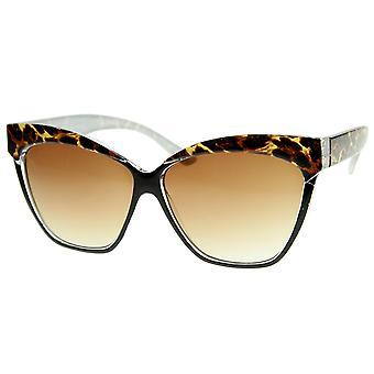 المرأة المتضخم القط العين نظارات بالتفصيل جبين المطبوعة
