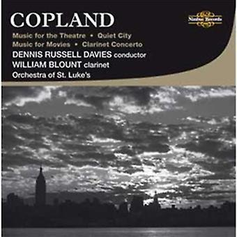 A. Copland - Copland: Musik för teater; Lugn stad; Musik för filmer; Klarinett Konsert [CD] USA import