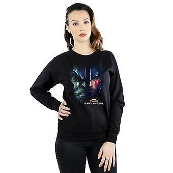Marvel Women's Thor Ragnarok Hulk Split Face Sweatshirt